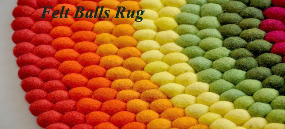 Felt balls Rug