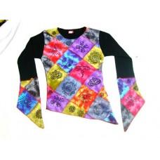 Rib Patch Printed Ladies T-shirt