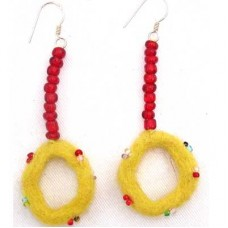 Felt Ring Shape Ear Rings