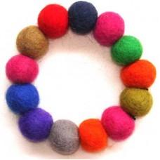 Felt Plain Balls Bracelet