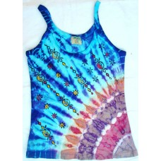 Printed Ladies Rib Cotton Top