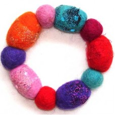 Felt Egg shape & Round Ball Bracelet