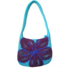 Beth Flower Felt Bag