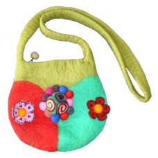 Felt Flower Cherry Bag