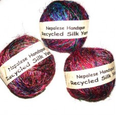 Higher Best Quality Recycled Silk yarn in balls