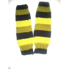 Woolen Leg Warmers in Stripes