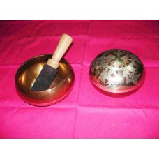 Painted Back In Small Size Singing Bowl