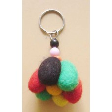 Felt Egg Balls Key Chain