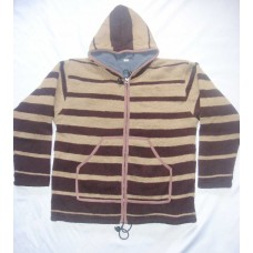 Stripes Design Hooded Jacket