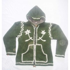 Woolen Hand Crochet Hooded Jackets