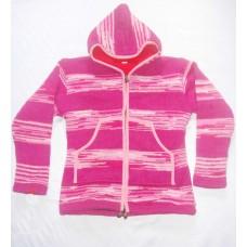 Woolen Ti-dye Hooded Jacket
