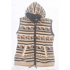 Woolen Vest in Hooded