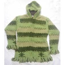 Woolen Strpes Frills Jacket