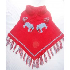 Woolen Elephant Design Ponchos