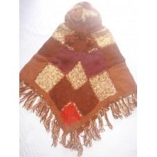 Woolen Patch Knit Ponchos