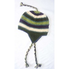 Hand Knitting Woolen Stripes Hats