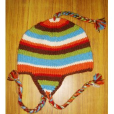 Woolen Stripes Ear Flap
