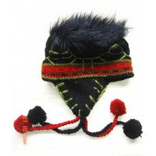 Knitted Woolen Ear Flap Cap