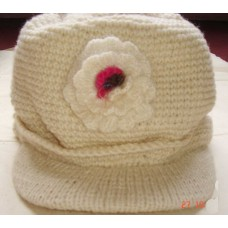 Woolen Hats Flower On the Front