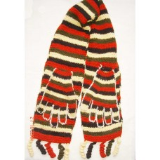 Woolen Hand Design Stripes Scarves
