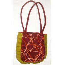 Double Handle Zig-zag Felt Bag