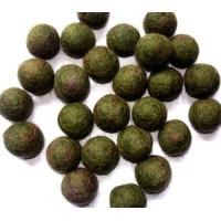 Dark Green Felt balls