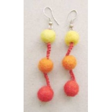 Felt Bead Space Balls Ear Rings