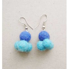 Felt Plain Balls Fashion Ear Rings