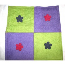 Felt 4 Flower Patch Cushion Cover