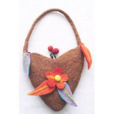 Felt Baby Flower Heart shape Bag