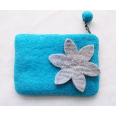 Felt Star Flower Beded Purse