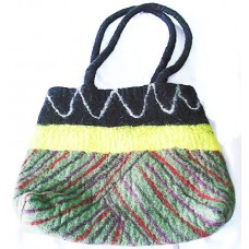 Felt Bag in stripes For Ladies