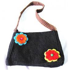 Felt Bag in Flowers