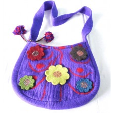 Felt Bag Flower With Crochet