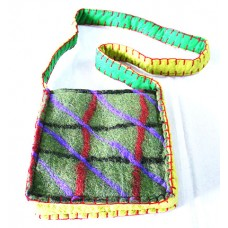 Felt Check Corchet Bag