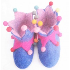Felt Cutting pom-poms Shoes