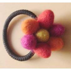 Felt balls hair band
