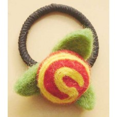 Felt Leaf Cherry Hair Band