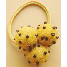3 Beaded Felt Balls Hair Band