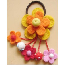 Felt Many Flower Hair Band