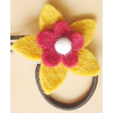 Felt Round & Star Flower Hair Band