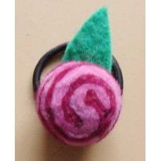 Cherry balls Felt hair band