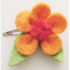 Nepal Felt Flower Hair Clip