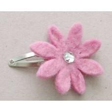 Wool handmade flower Clip