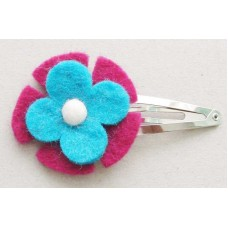 wool felt flower hair Clip