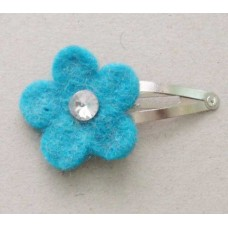 5 Edging Felt one Flower Hair Clip