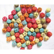 Knitted Felt Balls