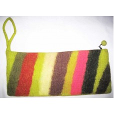 Stripes Felt Needle Case