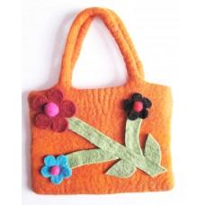 Felt Flower Hand Bag