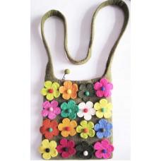 Felt 16 flowers Bag